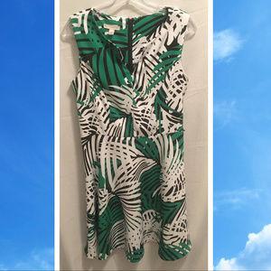 Size 10 Dressbarn Dress Palm Fronds Cute